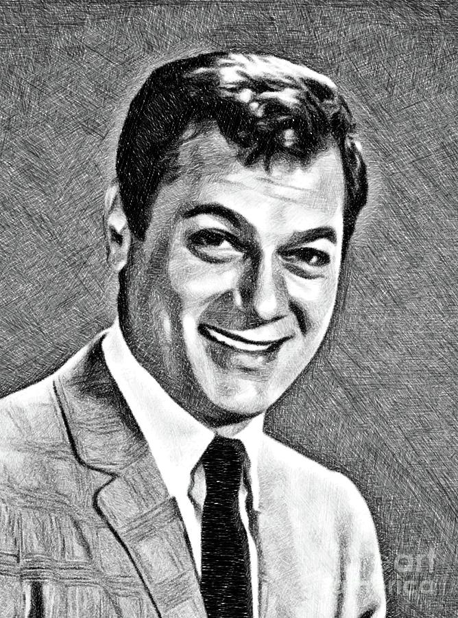 Tony Curtis, Vintage Actor By Js Drawing