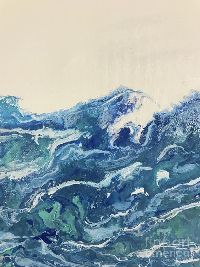 Ocean Painting - Too Blue by Deborah Miller