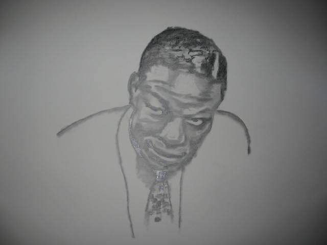 Jazz Artwork Drawing - Too Cole by B Jaxon