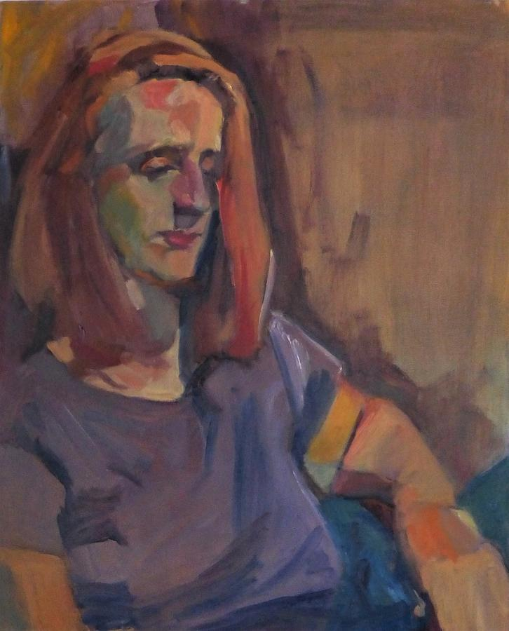 Portrait Painting - Too Late Now by Irena Jablonski