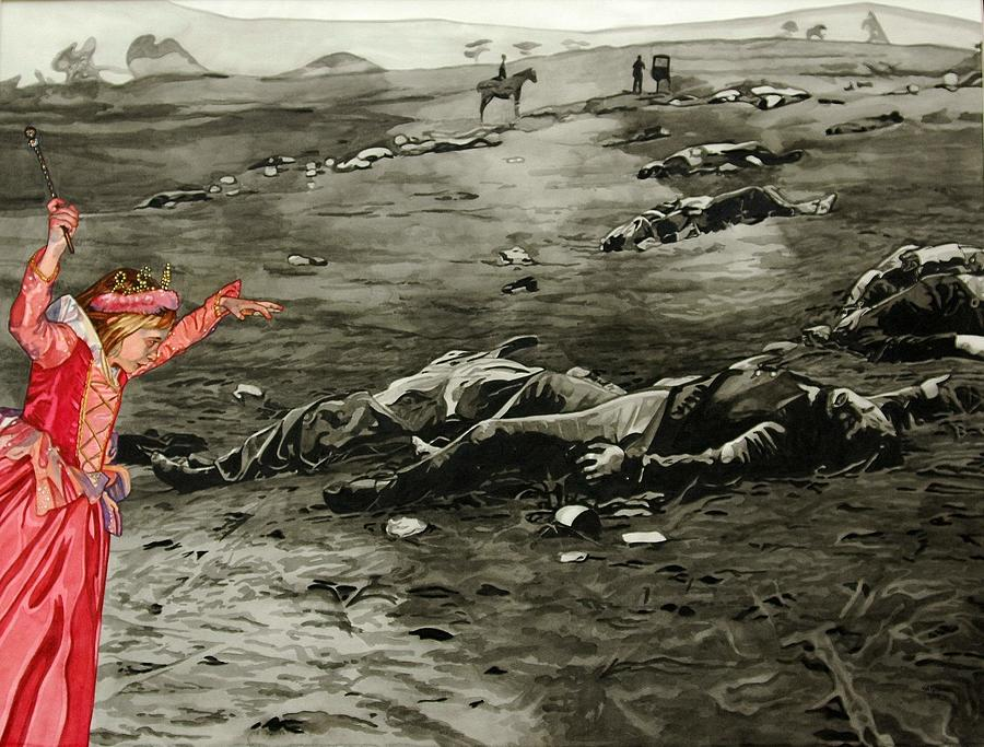 War Painting - Too Late by Valerie Patterson