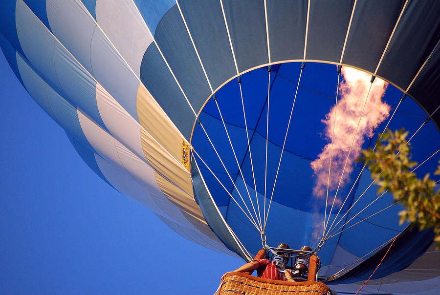 Hot Air Baloon Photograph - Too Low by Michelle  BarlondSmith