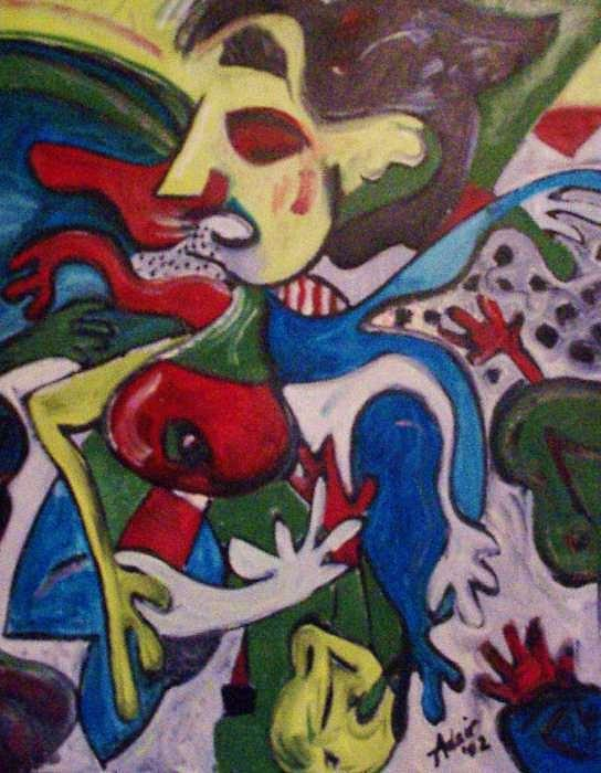 Too Many Children Painting by Adair Robinson