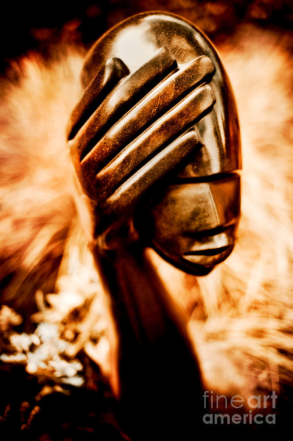African Photograph - Too Much In My Head by Venetta Archer