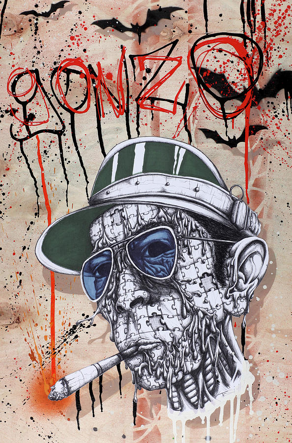 Gonzo Painting - Too Weird To Live Too Rare To Die by Tai Taeoalii