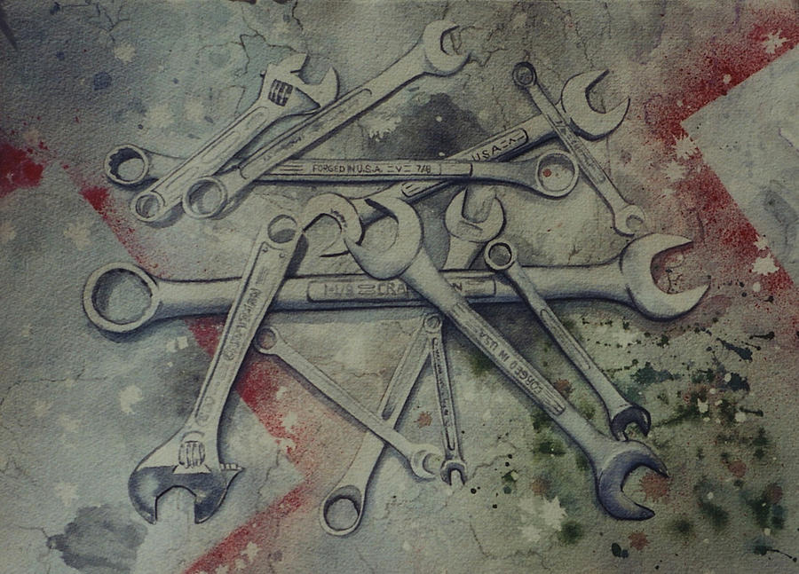 Tools painting by karla horst - Painting tool avis ...