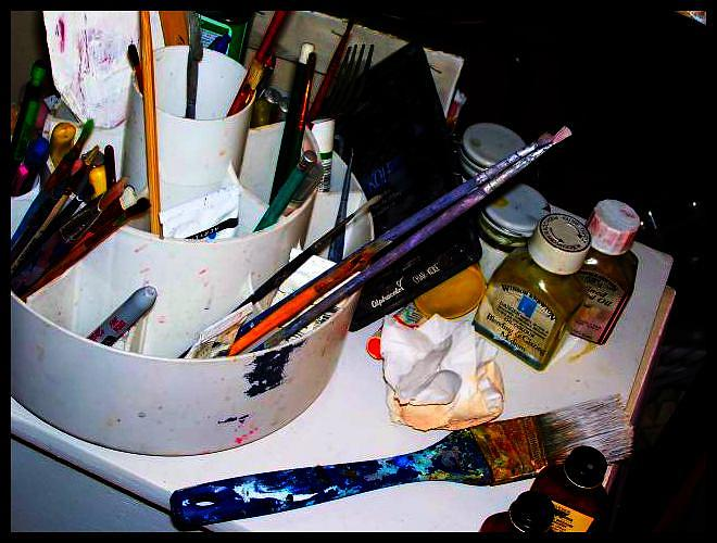 Paint Brushes Photograph - Tools Of The Trade by Amanda Estey