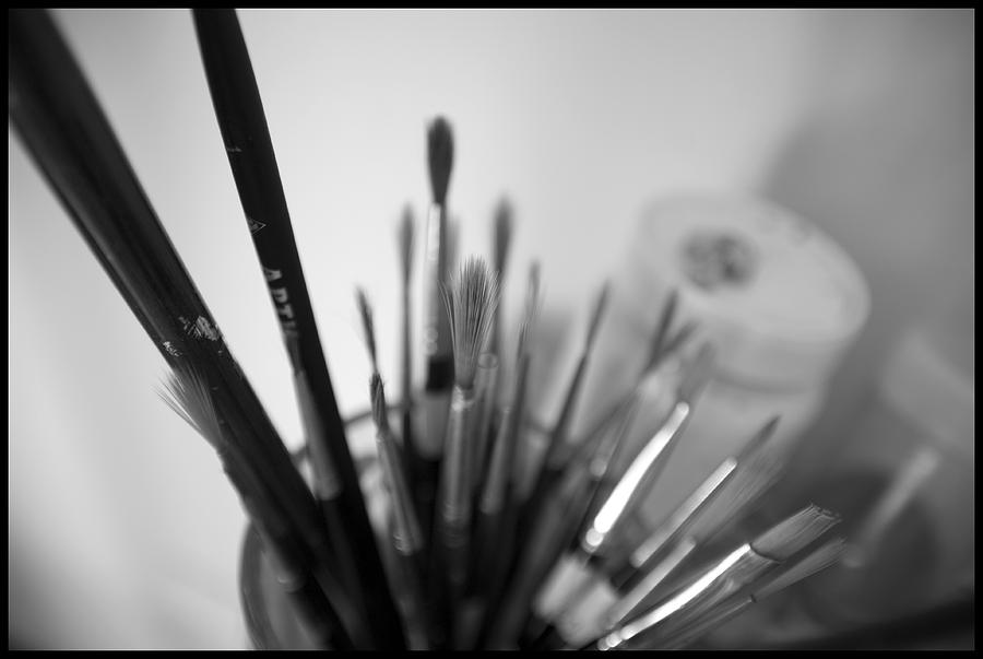 Black And White Photograph - Tools Of The Trade by Julia Bridget Hayes