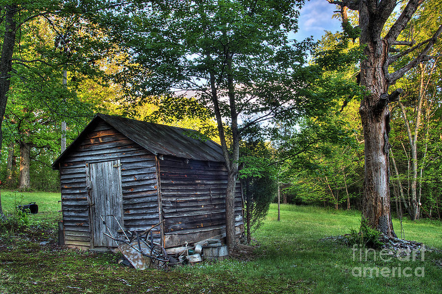 Landscape Photograph - Toolshed by Pete Hellmann