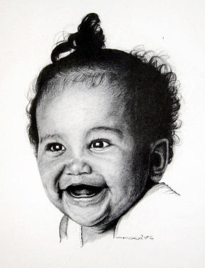 Toothless Baby Smiles Drawing by Opoku Acheampong