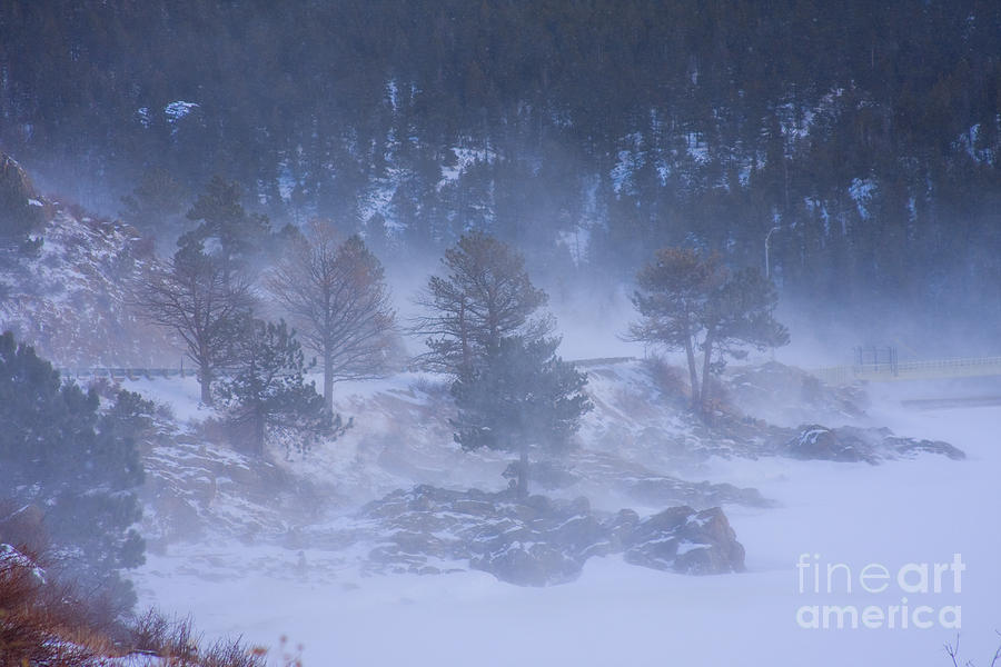 Blue Photograph - Top Of Boulder Canyon Winter Snow by James BO  Insogna