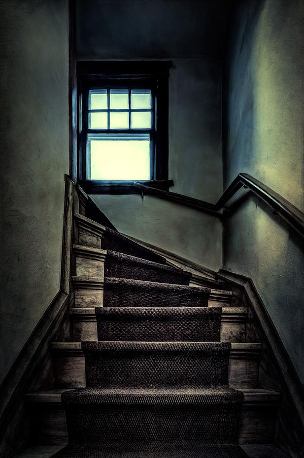 Stairs Photograph - Top Of The Stairs by Scott Norris