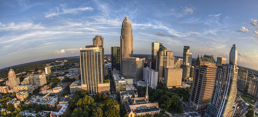 Charlotte Skyline Photograph - Top Of The World by Chris Austin