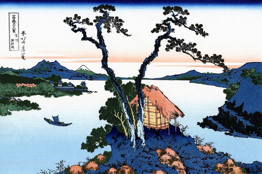 Katsushika Hokusai Painting - Top Quality Art - Mt,FUJI36view-Shinshu Suwako by Katsushika Hokusai