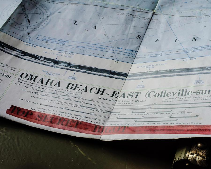 Top Secret - Omaha Beach by Printed Pixels
