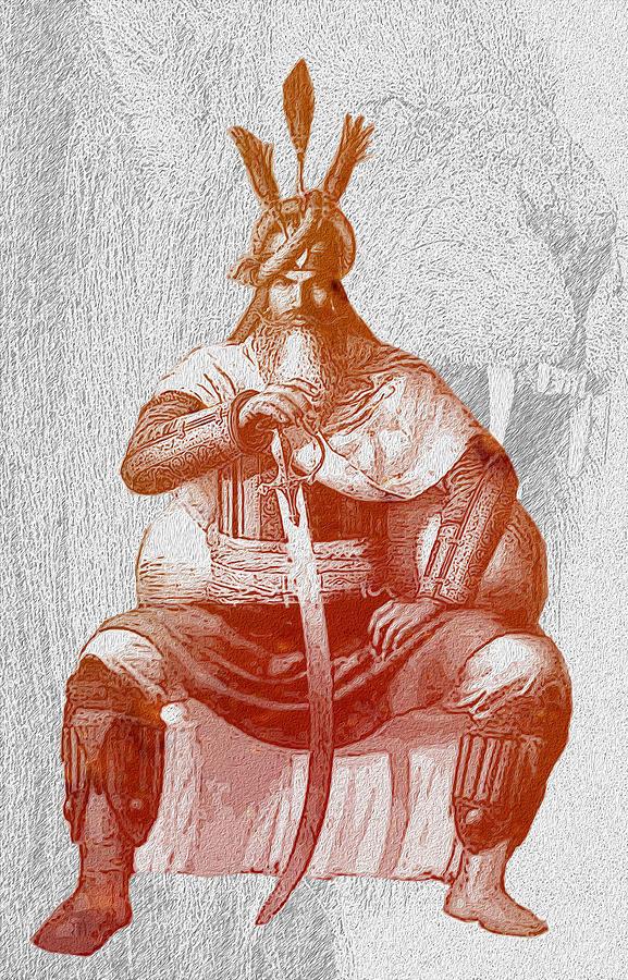 Sikh Digital Art - Top Warrior In The World Hari Singh Nalwa  by Manjot Singh Sachdeva