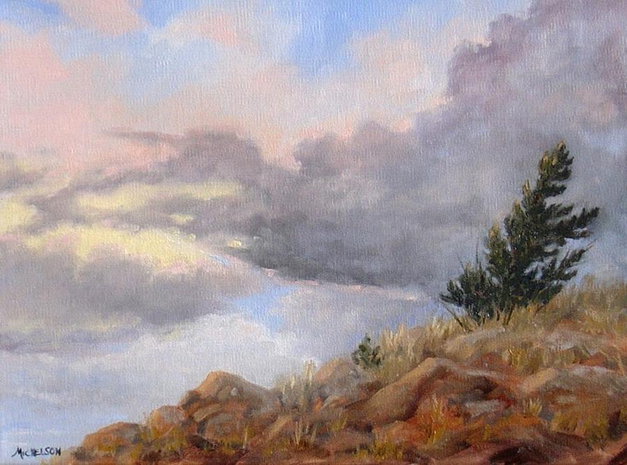 Landscape Painting Painting - Topaz Skies by Debra Mickelson