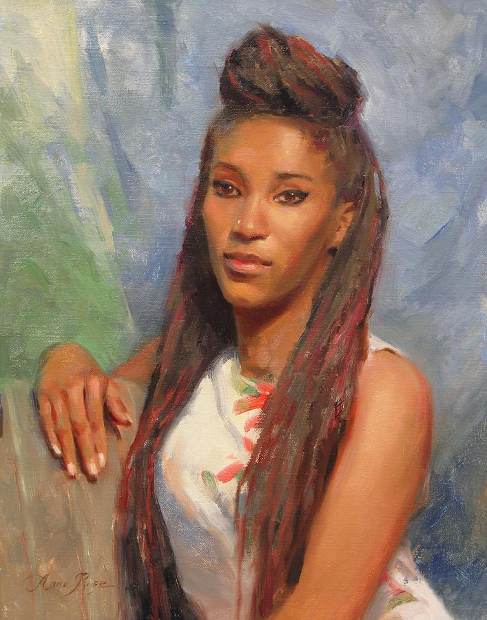 Beautiful Woman Painting - Tori by Anna Bain