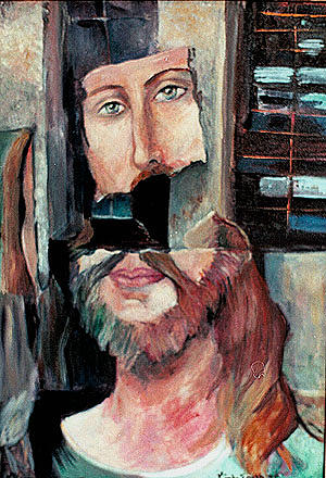 Painting Painting - Torn Christ  by Linda Smith