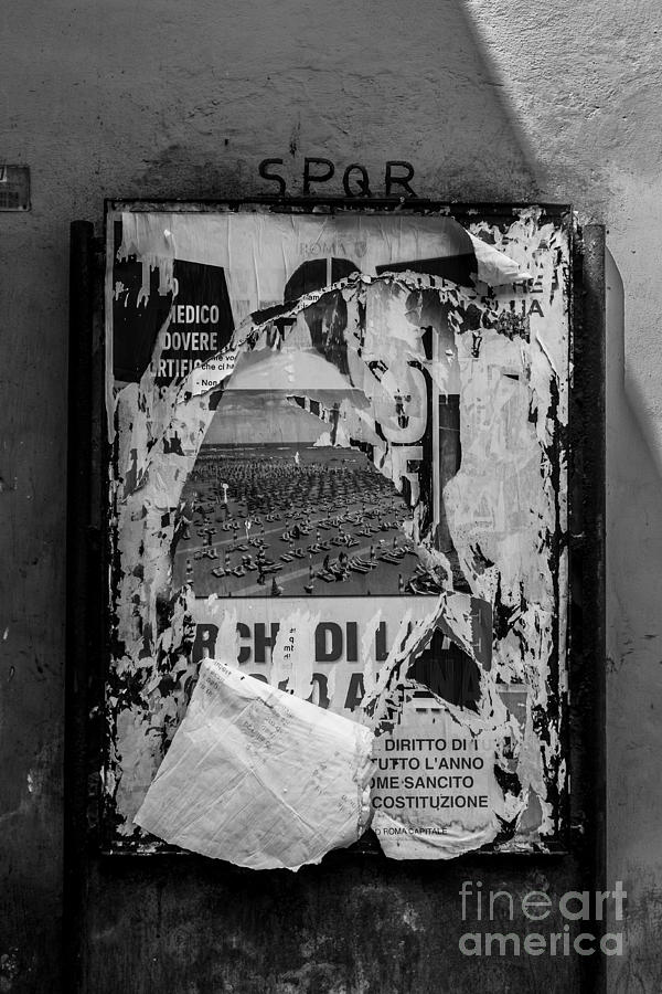 Italy photograph torn posters rome italy by edward fielding