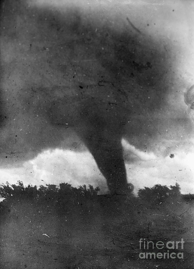 1917 Photograph - Tornado, C1913-1917 by Granger