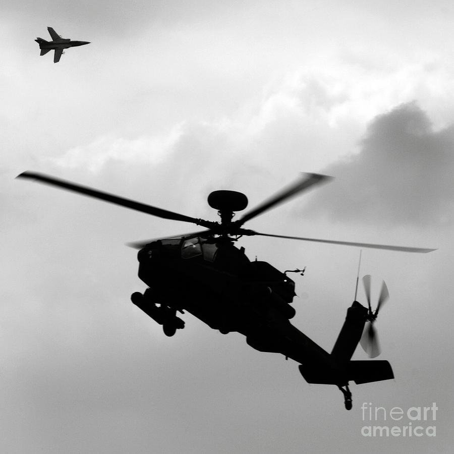Apache Photograph - Tornado F3 And Apache by Angel Ciesniarska