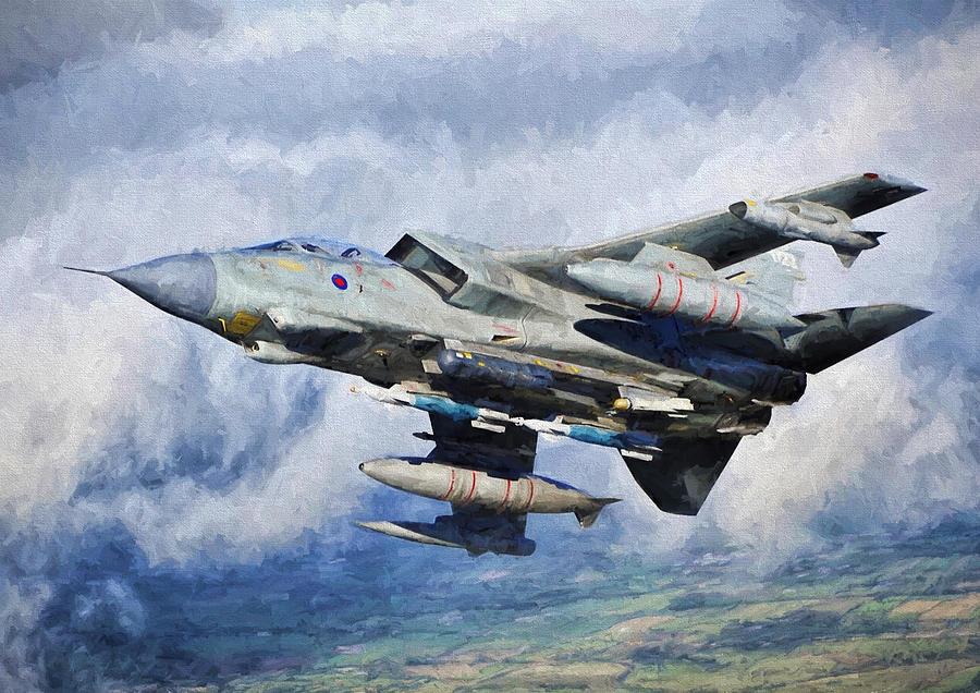 Gr4 Digital Art - Tornado Gr4 - 2 by Roy Pedersen