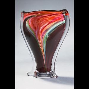 Tornado Ikebana Glass Art by Barrie Bredemeier