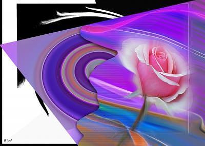 Roses Digital Art - Tornado Rose by Brenda Starr