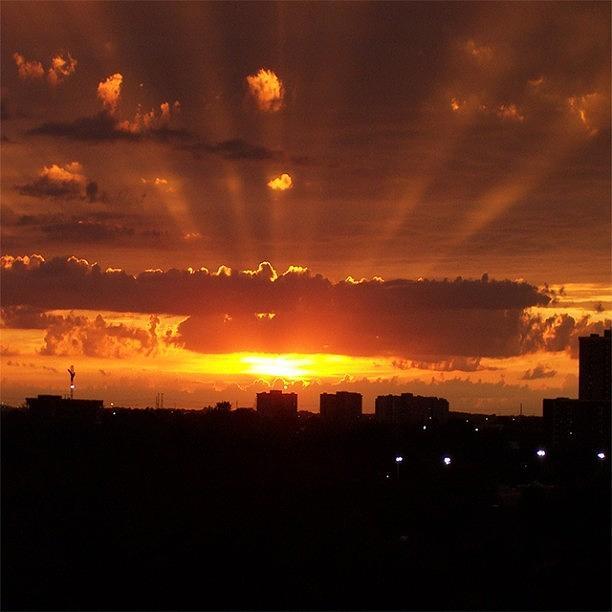 Toronto Photograph - Toronto - Just One Breathtaking Sunset by Serge Averbukh