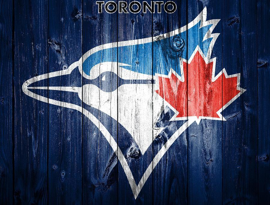 Toronto Blue Jays Barn Door Mixed Media