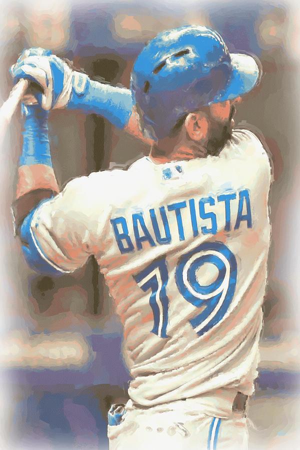 Jose Bautista Photograph - Toronto Blue Jays Jose Bautista 2 by Joe Hamilton