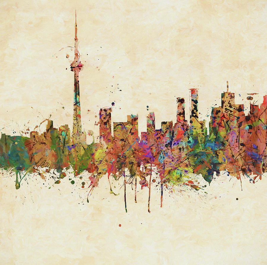 Toronto Colorful Skyline by Dan Sproul
