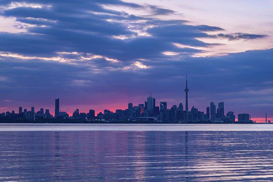 Toronto In Fifty Shades Of Violet And Purple Photograph
