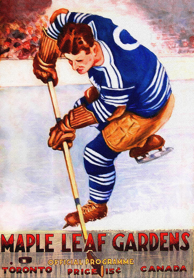 628e0374271 Toronto Maple Leafs Vintage Program Two Painting by John Farr