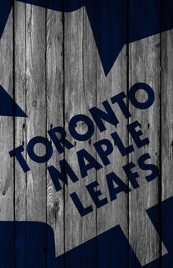 Toronto Maple Leafs Wood Fence Digital Art By Joe Hamilton