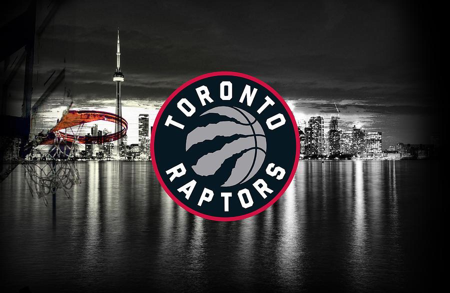 Toronto Digital Art - Toronto Raptors NBA Basketball by Nicholas Legault