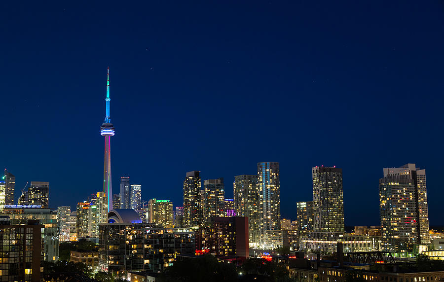 Copy Space Photograph - Toronto Skyline And World Pride by Travel and Destinations - By Mike Clegg