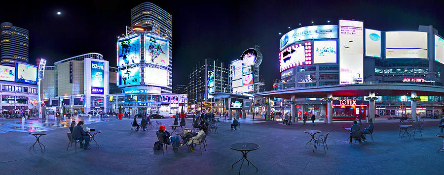 Toronto Skyline at Dundas Square by Levin Rodriguez