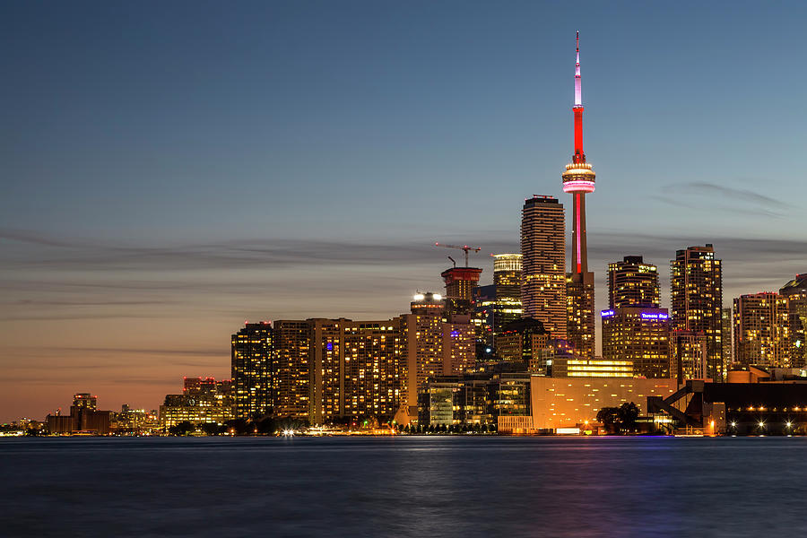 3scape Photograph - Toronto Skyline at Dusk by Adam Romanowicz