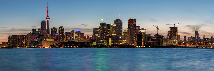 3scape Photograph - Toronto Skyline At Dusk Panoramic by Adam Romanowicz