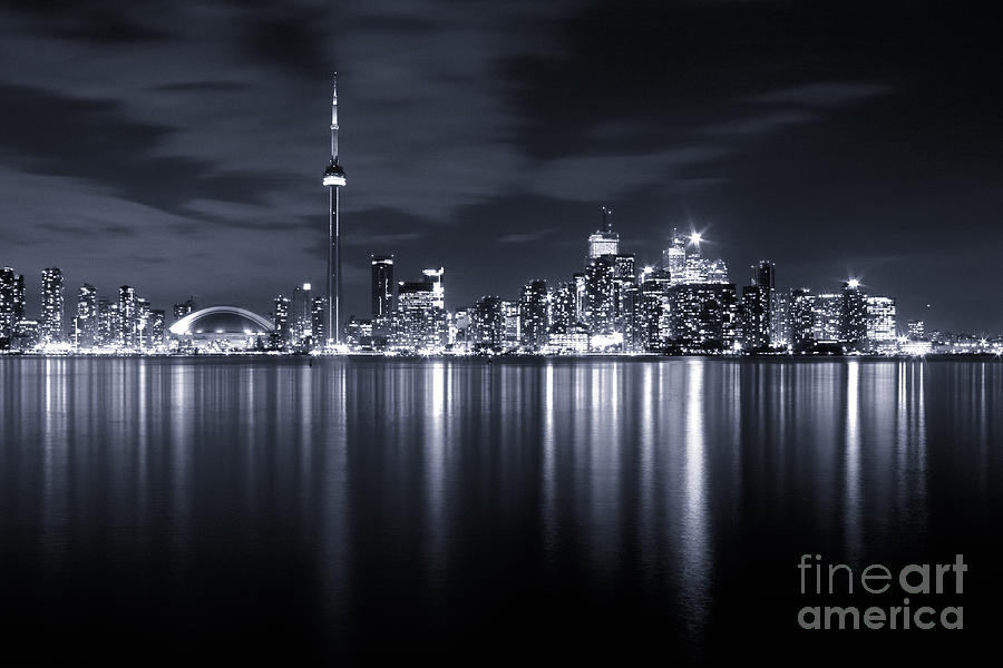 Toronto Photograph - Toronto Skyline Monochrome by Matt  Trimble