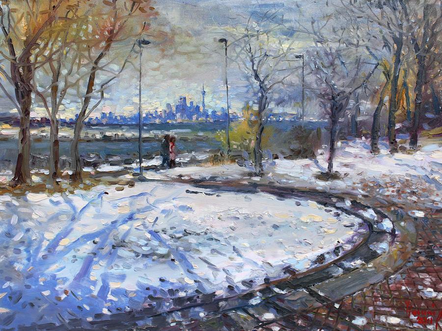 Toronto Skyline Painting - Toronto Skyline by Ylli Haruni