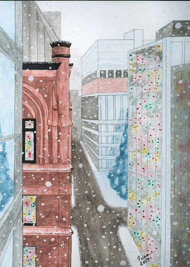 Toronto Painting - Toronto Street Scene by Fran Hoffpauir
