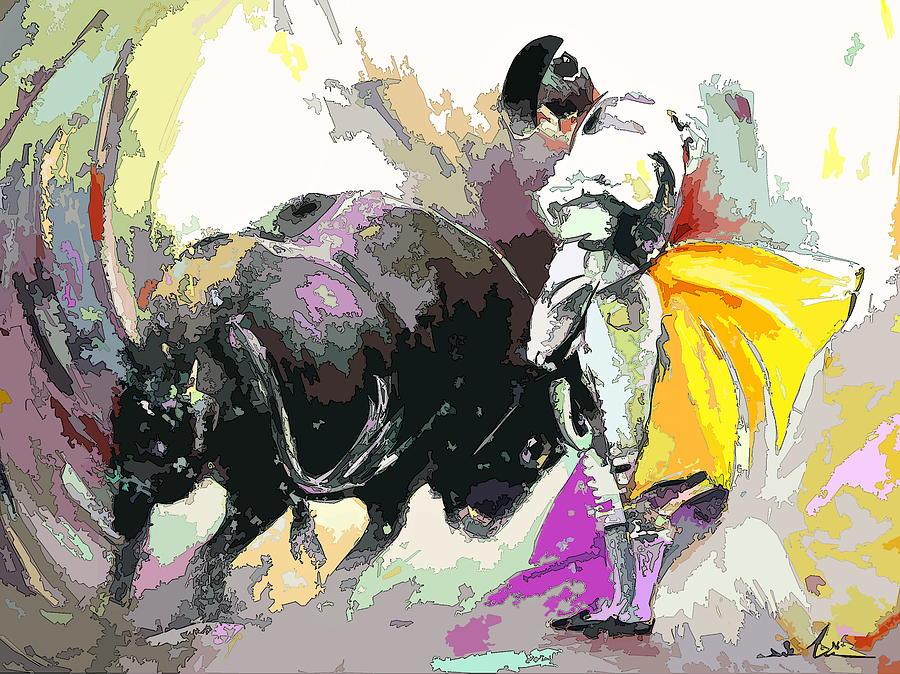 Animals Painting - Toroscape 39 by Miki De Goodaboom