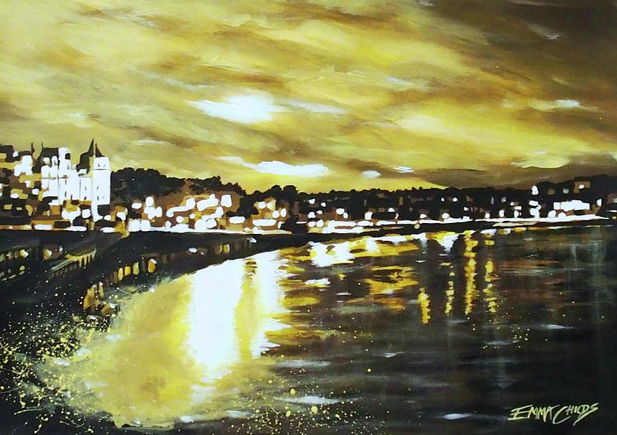 Torquay Seafront At Sunset Painting