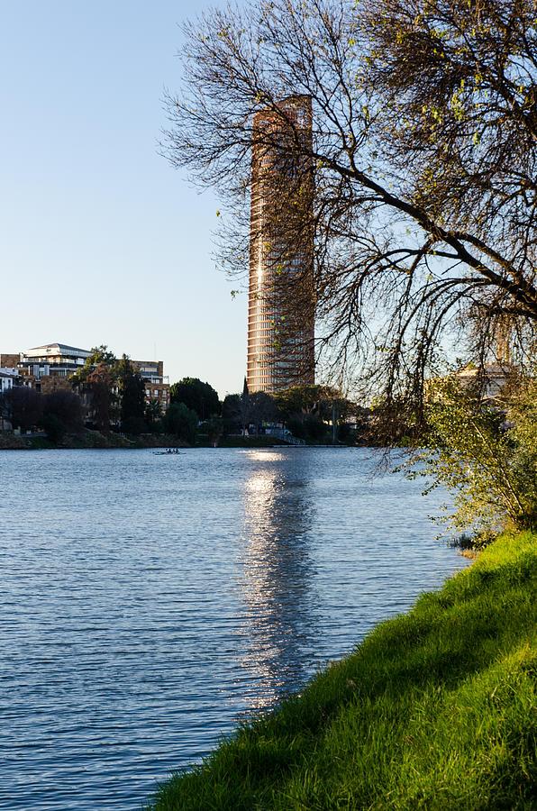 Spain Photograph - Torre Sevilla by AM FineArtPrints