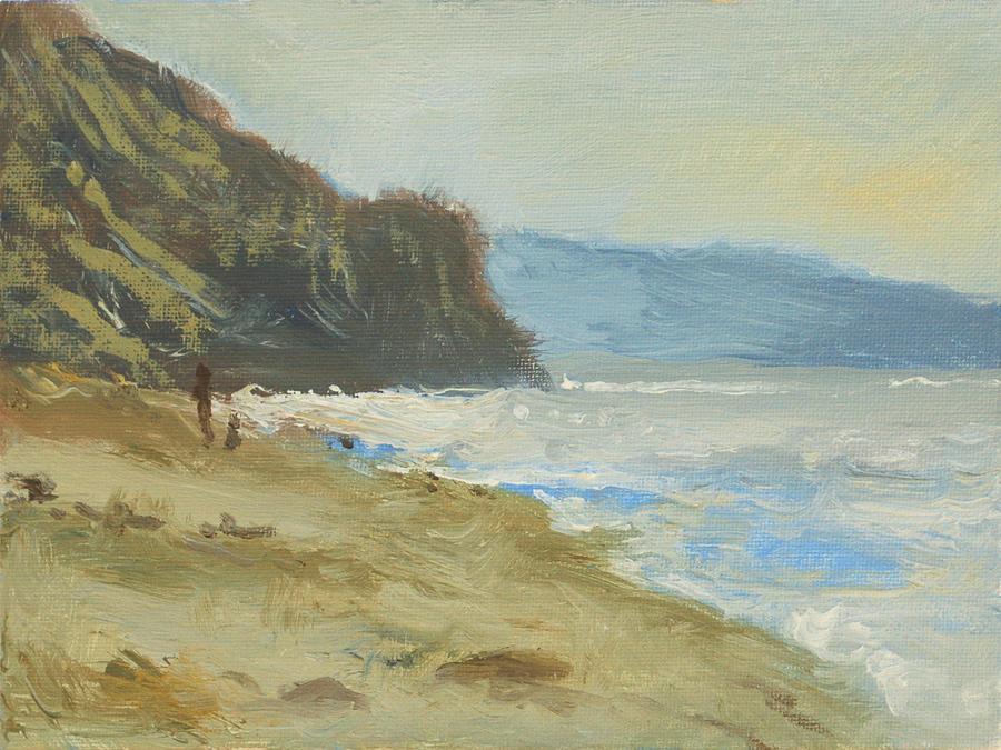 Ocean Painting - Torrey Pines Beach by Robert Bissett