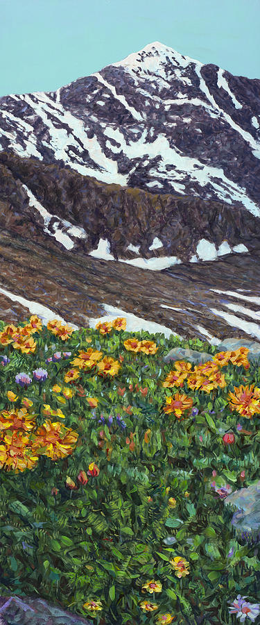 Colorado Painting - Torreys Peak In Spring by James W Johnson
