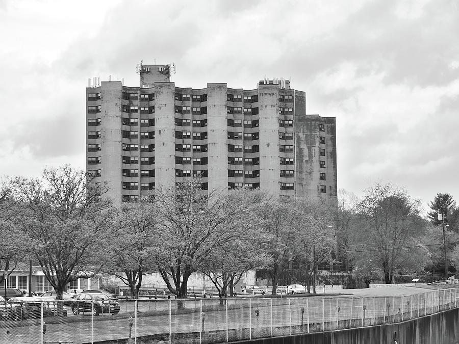 Monochrome Photograph - Torrington Towers by Eric Radclyffe